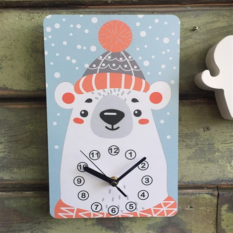 Часики Мишка Зимний - фото 6894