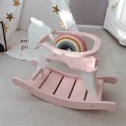 Лошадка-качалка мини нежно-розовая